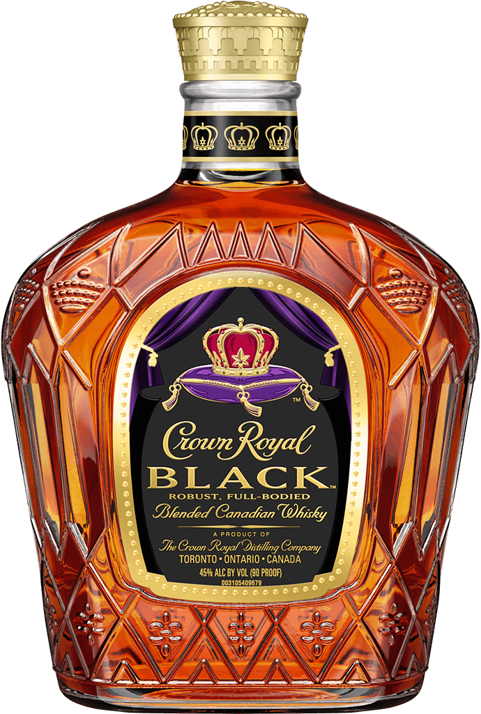 Crown Royal Black Whisky Bottle - Blended Canadian Whisky - Crown Royal