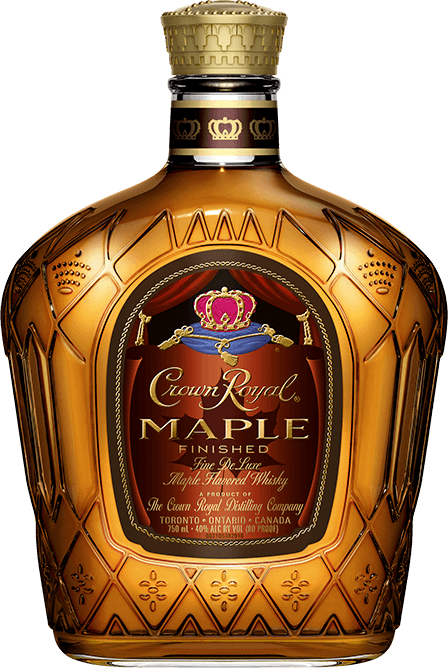 Crown Royal Maple Flavored Whisky Bottle - Blended Canadian Whisky - Crown Royal