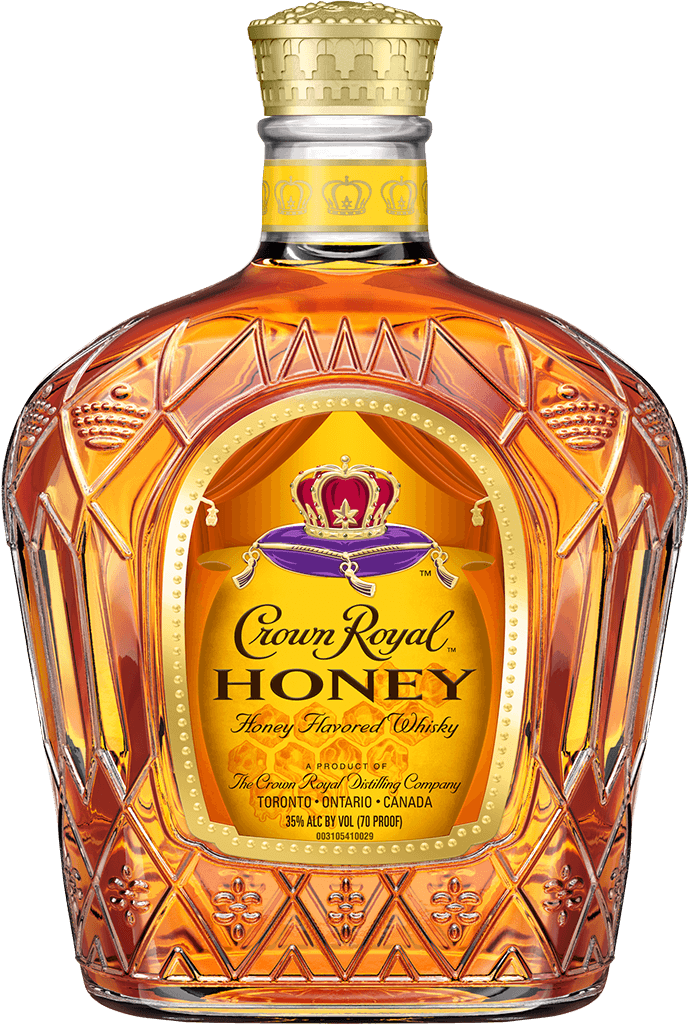 Crown Royal Honey Flavored Whisky Bottle - Blended Canadian Whisky - Crown Royal