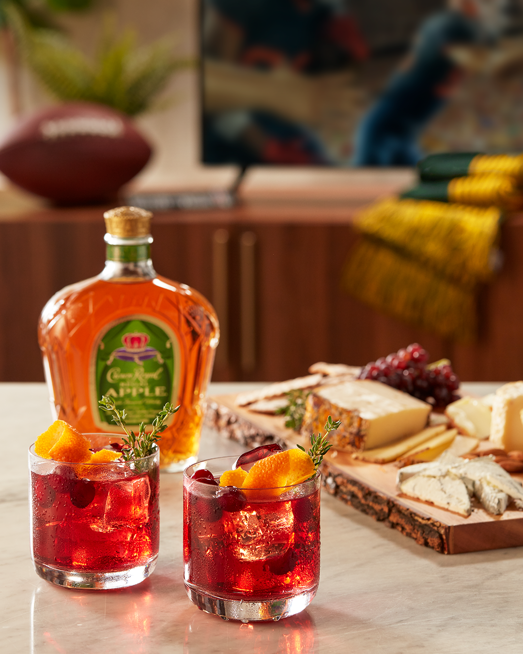 Green Bay Packers (Crownberry Apple) with a bottle of Crown Royal Regal Apple