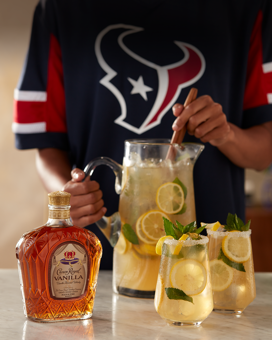 Houston Texans (Royal Lemonade) with a bottle of Crown Royal Vanilla