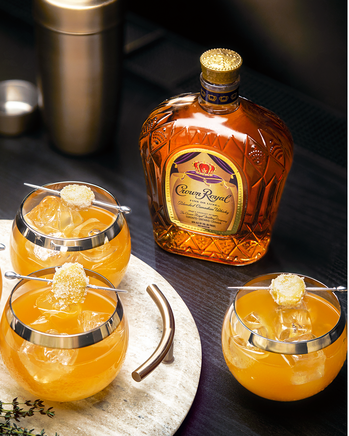Crown Royal Clementine & Ginger Old Fashioned Whisky Cocktail