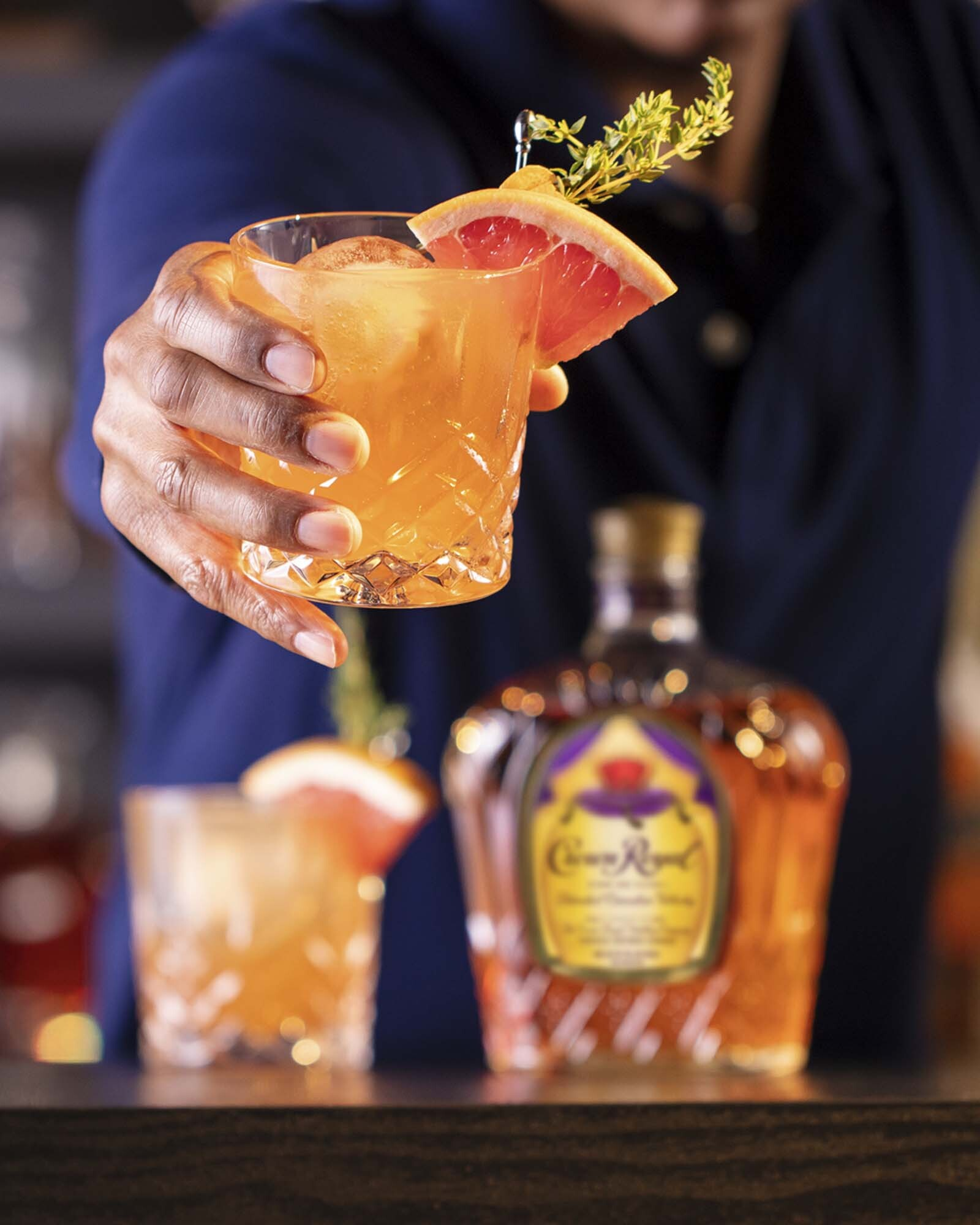Crown Royal Grapefruit Old Fashioned Whisky Cocktail