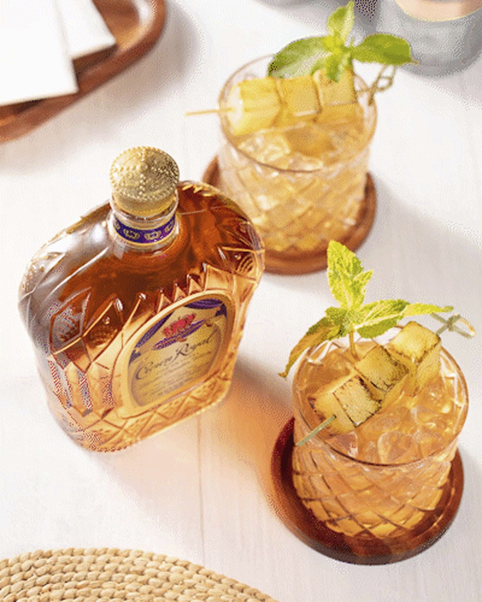 Crown Royal Pineapple Old Fashioned Whisky Cocktail