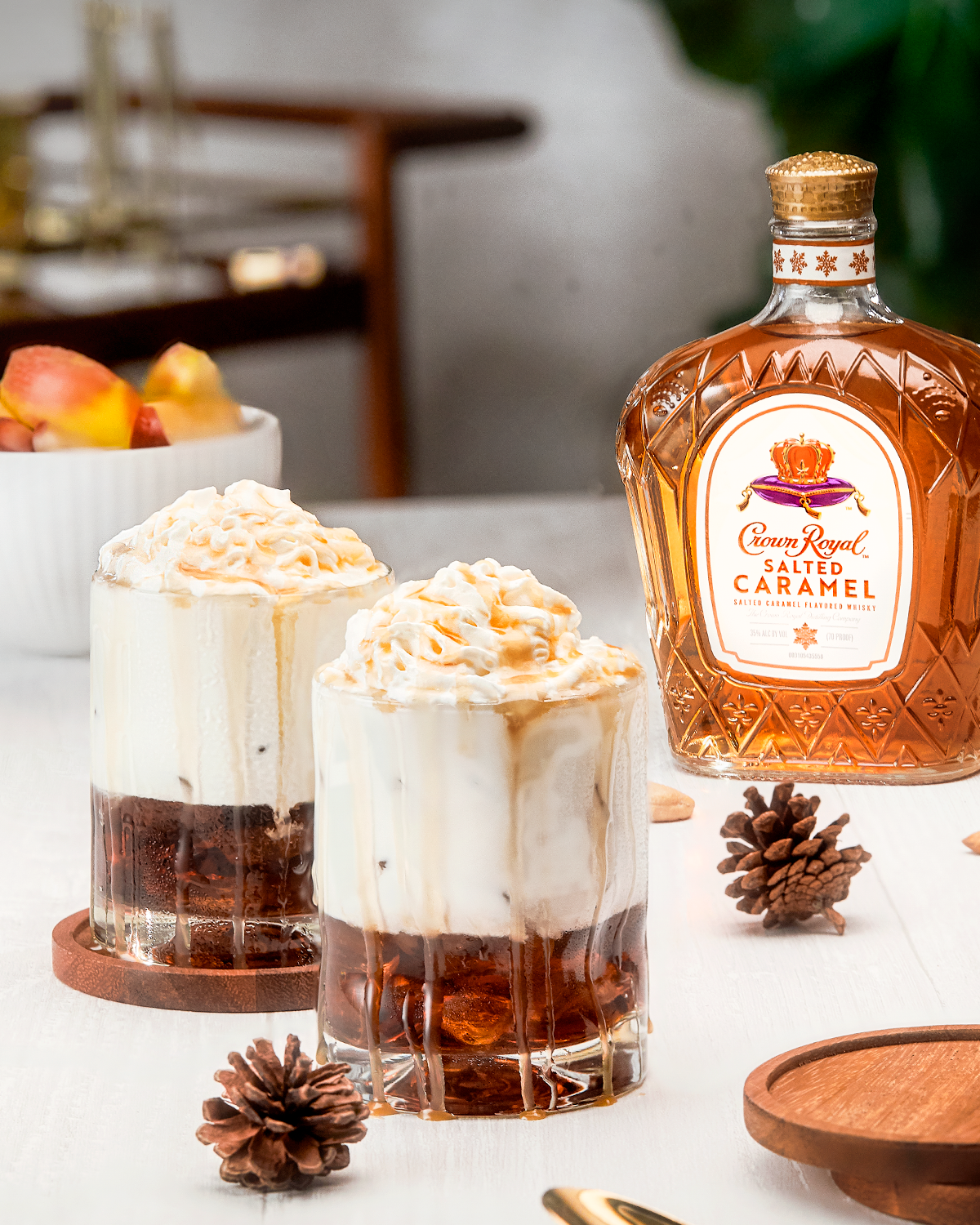 Crown Royal Salted Caramel White Russian Whisky Cocktail