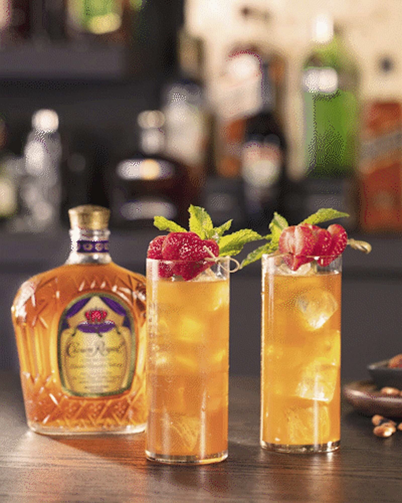 Crown Royal Strawberry Mint iced Tea Whisky Cocktail