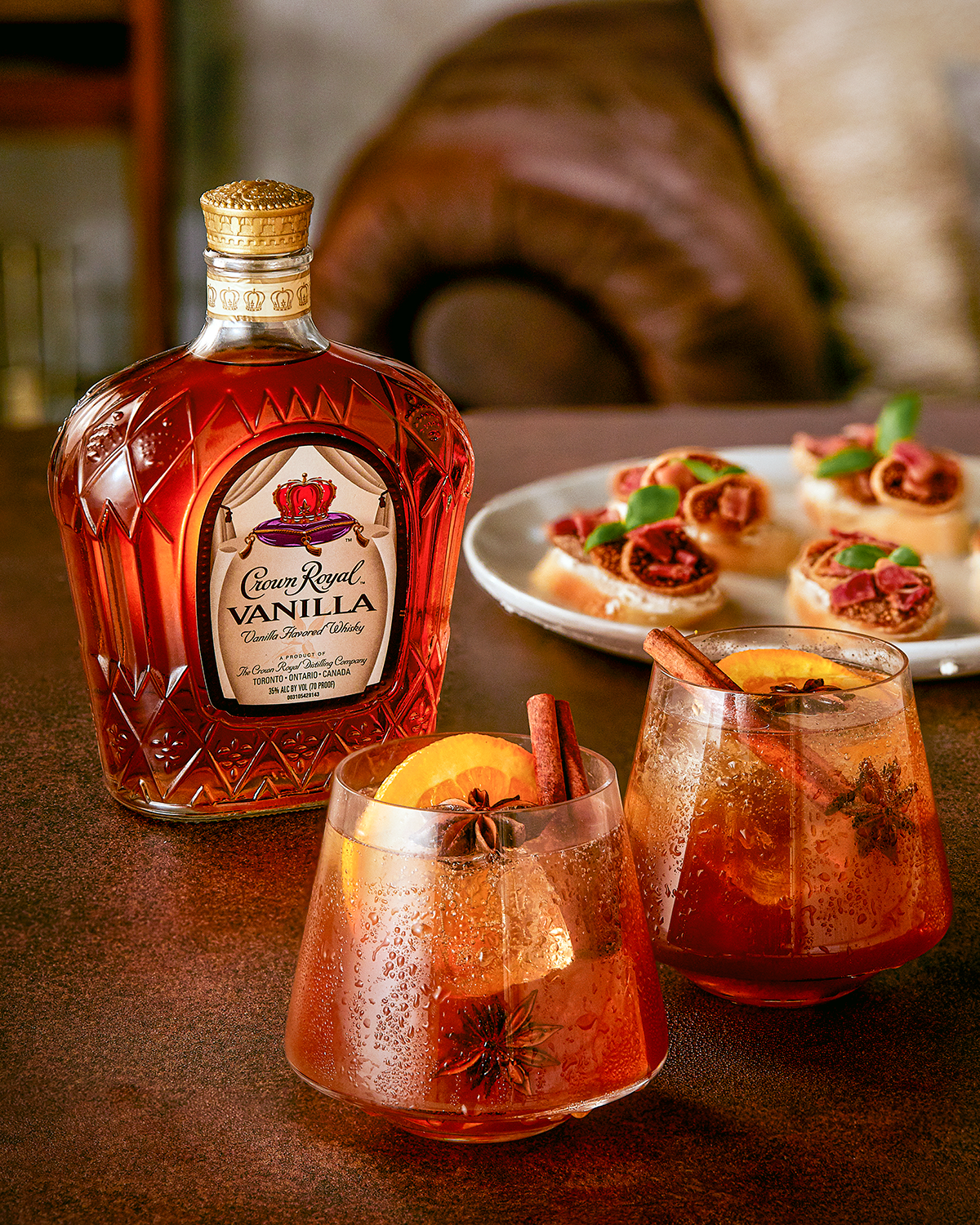 Crown Royal Vanilla Chai Old Fashioned Whisky Cocktail